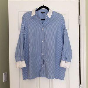 Topshop striped button up shirt
